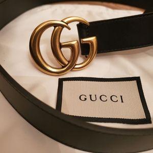 "💥New GG 1"" skinny gold brass belt sz 95 cm 💥"